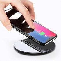 【支援快充!鋼化玻璃】鏡面無線充電器 QC3.0 手機無線充電器 無線快充 無線充電板 無線充電盤【AB1031】