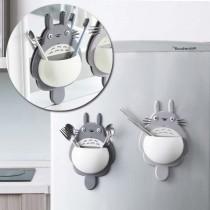 卡通龍貓造型吸盤式牙刷架 置物架 龍貓強力三吸盤多功能牙刷架 收納架