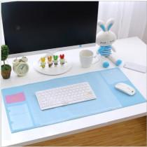 大尺寸雙層收納辦公桌墊 超大電腦墊 辦公桌墊 清新多功能超大電腦墊 PVC防水墊 滑鼠墊