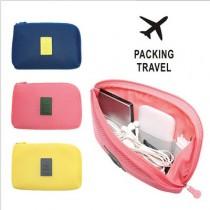促銷特惠  韓式風格 多功能旅行收納包 出遊包 隨身包 充電線行動電源收納包