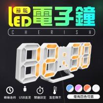 【3D立體感!LED電子時鐘】韓風熱銷搶購!多功能科技電子鐘 可壁掛 數字鐘 電子鬧鐘 掛鐘 萬年曆溫度計【DE256】