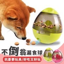 【邊吃邊玩!增加樂趣】不倒翁漏食球 寵物漏食球 蛋型漏食球 漏食不倒翁 寵物漏食器 寵物玩具 漏食玩具【AT015】