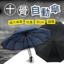 【加強十骨更堅固-傘內領黑膠層】黑膠層抗UV50+ 反向傘 自動摺疊雨傘 雙人傘 抗強風 自動傘 摺疊傘【AF259】