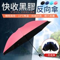 【專利骨架!回彈收傘】 快收黑膠反向傘 大傘面雨傘 雨傘自動傘 自動傘 晴雨傘 遮陽傘 黑膠 雨傘 摺傘【G2608】