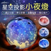 【送五種幻燈片!浪漫星空】星空投影小夜燈 LED星空燈 USB星球小夜燈 星空投影燈 宇宙燈 星球燈【G1207】
